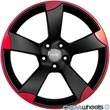 AU510+18%26quot%3B+GunMetal+Machined+Face+Red+ET35+Wheels+Set